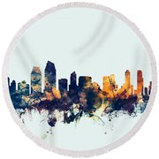 San Diego California Skyline Round Beach Towel