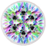 6 Star Crystal 1 Round Beach Towel by Robert Thalmeier