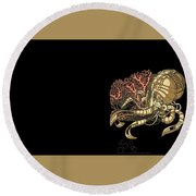 Steampunk Round Beach Towel