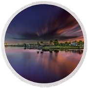 Sunrise At Naples, Florida Round Beach Towel