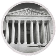 Supreme Court Building Round Beach Towel