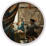 The Art Of Painting Round Beach Towel