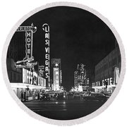 The Las Vegas Strip Round Beach Towel