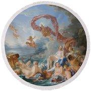 The Triumph Of Venus Round Beach Towel