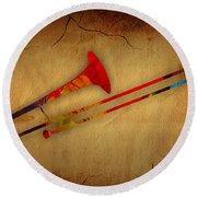 Trombone Collection Round Beach Towel