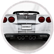 60th Anniversary Corvette Round Beach Towel