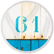 Round Beach Towel featuring the photograph 61 by Hannes Cmarits