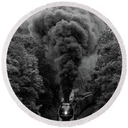611 At Fiery Road Overpass Round Beach Towel