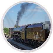 6201 Princess Elizabeth At Swanwick Station Round Beach Towel