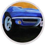 66 Corvette - Blue Round Beach Towel