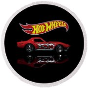 '69 Chevy Corvette Round Beach Towel