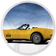 '69 Corvette Sting Ray Round Beach Towel