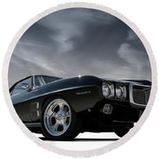 69 Pontiac Firebird Round Beach Towel