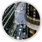 Round Beach Towel featuring the photograph 6th And Superior - Cleveland by Samuel M Purvis III