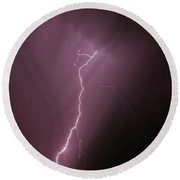7-17-16 Lighting Storms Round Beach Towel by Elaine Malott
