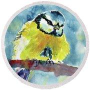 Bird Round Beach Towel by Kovacs Anna Brigitta