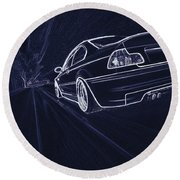 Bmw M3 E46  Round Beach Towel