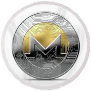 Cryptocurrency Physical Coin Round Beach Towel