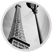 Round Beach Towel featuring the photograph Eiffel Tower by Chevy Fleet