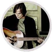 Jackson Browne Collection Round Beach Towel