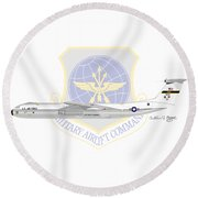 Round Beach Towel featuring the digital art Lockheed C-141a Starlifter by Arthur Eggers