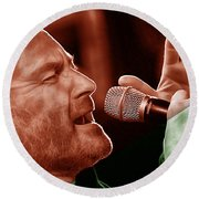 Phil Collins Collection Round Beach Towel