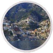 Positano - Amalfi Coast Round Beach Towel