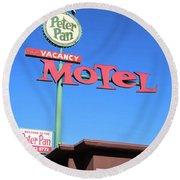 Remnants Of Vintage Vegas Round Beach Towel