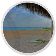 Round Beach Towel featuring the photograph 7- Southern Beach by Joseph Keane