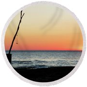 Sunset At Basanija Round Beach Towel