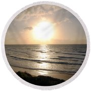 Sunset At Jaffa Beach 10 Round Beach Towel