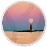 Super Moon 2016 Round Beach Towel
