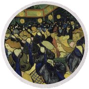 The Dance Hall In Arles Round Beach Towel