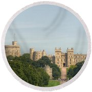 Windsor Castle Round Beach Towel