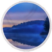 Winter Dawn Round Beach Towel