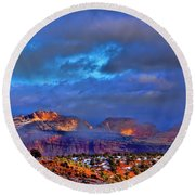 Capitol Reef National Park Round Beach Towel