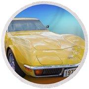 72 Corvette Round Beach Towel