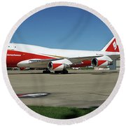747 Supertanker Round Beach Towel by Bill Gabbert