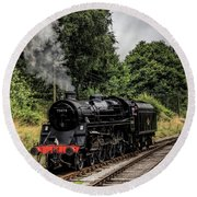 75078 Steam Locomotive Round Beach Towel