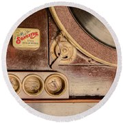 Round Beach Towel featuring the photograph 78 Rpm And Accessories by Gary Slawsky
