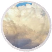 Round Beach Towel featuring the photograph Clouds by Les Cunliffe