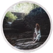 Round Beach Towel featuring the photograph Aretusa by Traven Milovich