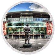 Arsenal Fc Emirates Stadium London Round Beach Towel