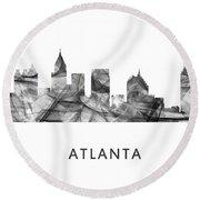 Atlanta Georgia Skyline Round Beach Towel