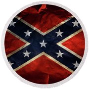 Confederate Flag 9 Round Beach Towel