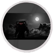 Demon Round Beach Towel
