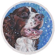 English Springer Spaniel Round Beach Towel