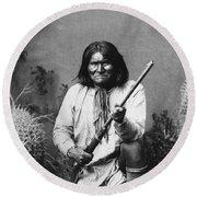 Geronimo (1829-1909) Round Beach Towel