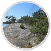 In Stendorren Nature Reserve Round Beach Towel