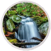 Round Beach Towel featuring the photograph Little Laurel Branch by Thomas R Fletcher